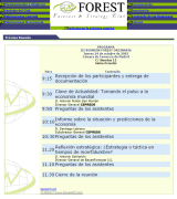 Forest - Forecast Strategy Club, programa de octubre de 2002